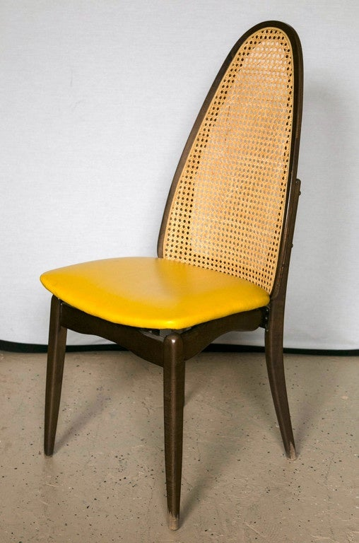 Set Of Six Stakmore Cane Back Folding Chairs At 1stdibs