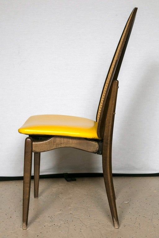 set of six stakmore back folding chairs at 1stdibs