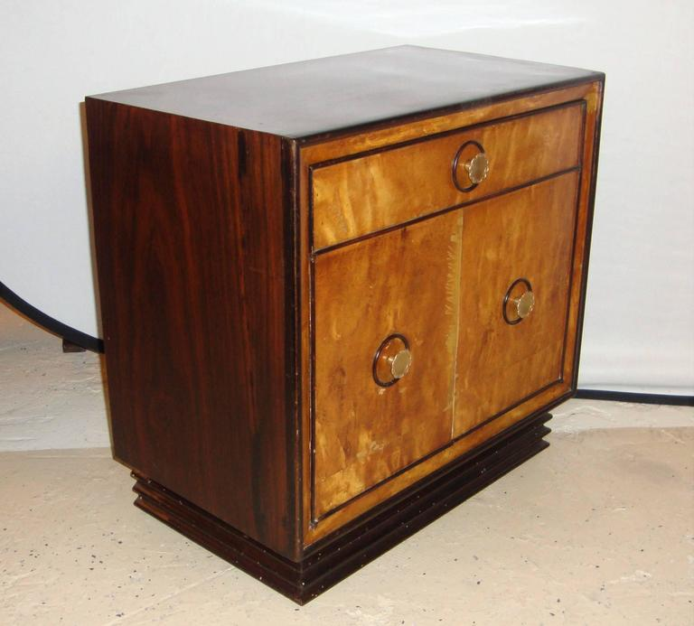 Pair of art deco mid century modern nightstands end tables for Modern art deco bedroom furniture