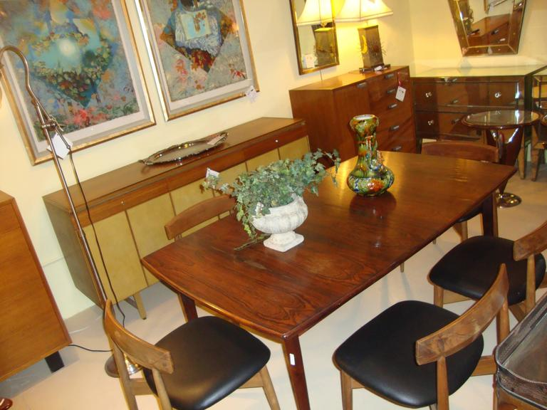 Set of Six Danish Mid-Century Modern Rosewood Dining Chairs 7