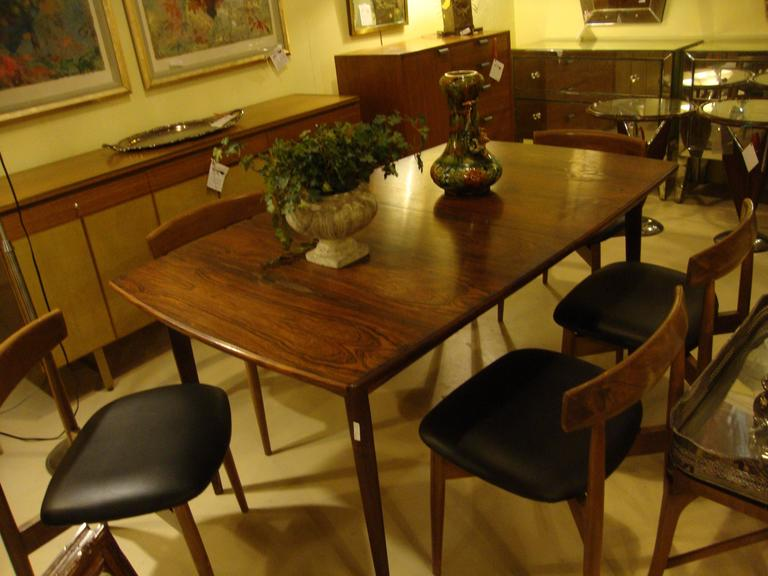 Set of Six Danish Mid-Century Modern Rosewood Dining Chairs 8