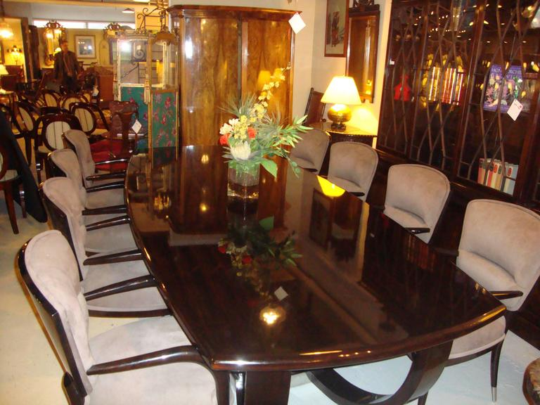 ebony macassar art deco style dining room or conference