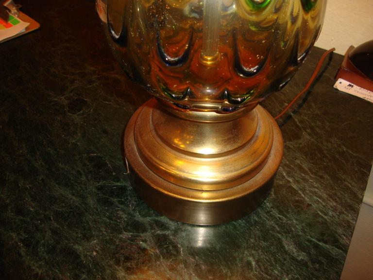 Pair of Multicolored Murano Glass Table Lamps For Sale 2