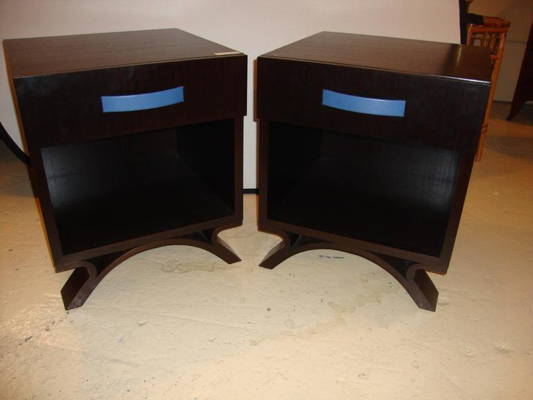 Pair Of Dakota Jackson End Tables Night Tables For Sale At 1stdibs