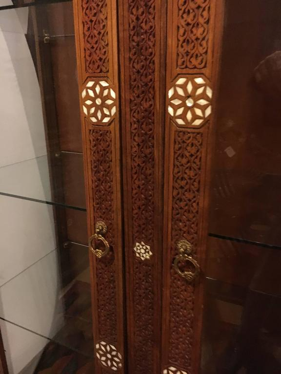 Antique Syrian Cabinet With Mother Of Pearl Mid 19th
