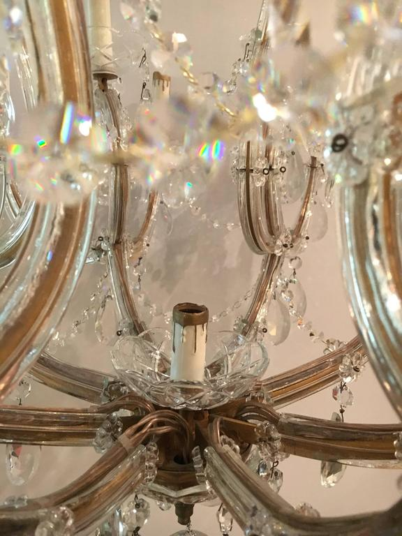 Pair Of Antique Venetian Twentyone Light Chandeliers For