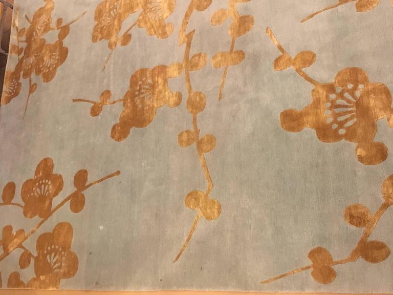 Bamboo Blossoms Rug Signed Emma Gardner Design For Sale 1