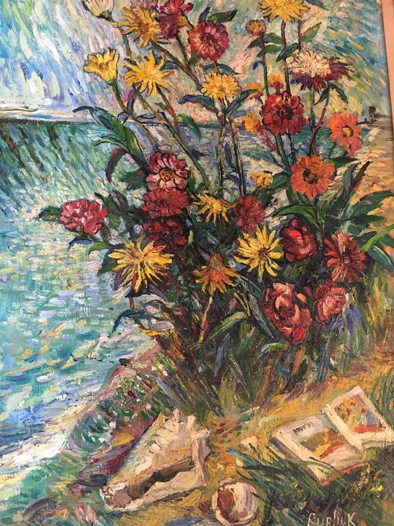 David Burliuk American/Ukrainian Listed Prov. Christies NY In Good Condition For Sale In Stamford, CT