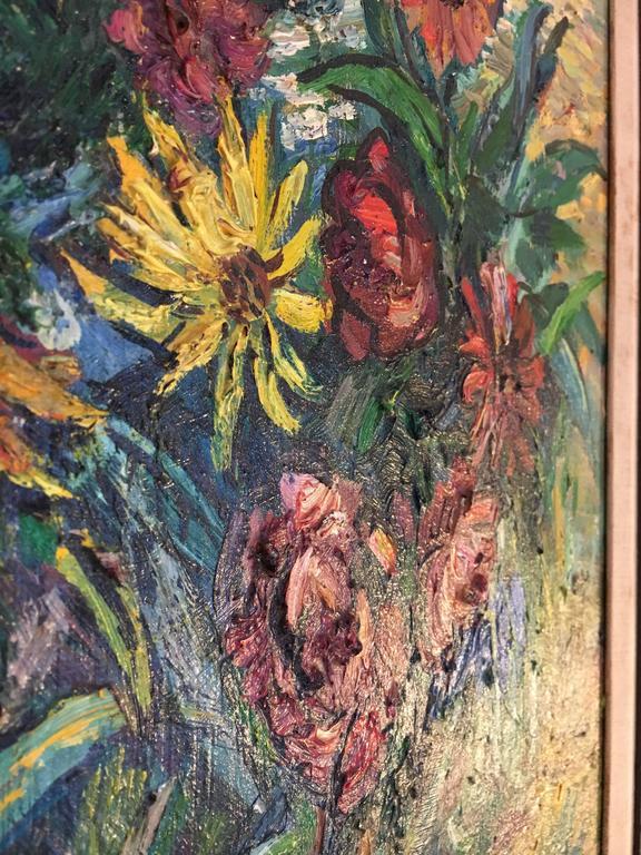 Canvas David Burliuk American/Ukrainian Listed Prov. Christies NY For Sale