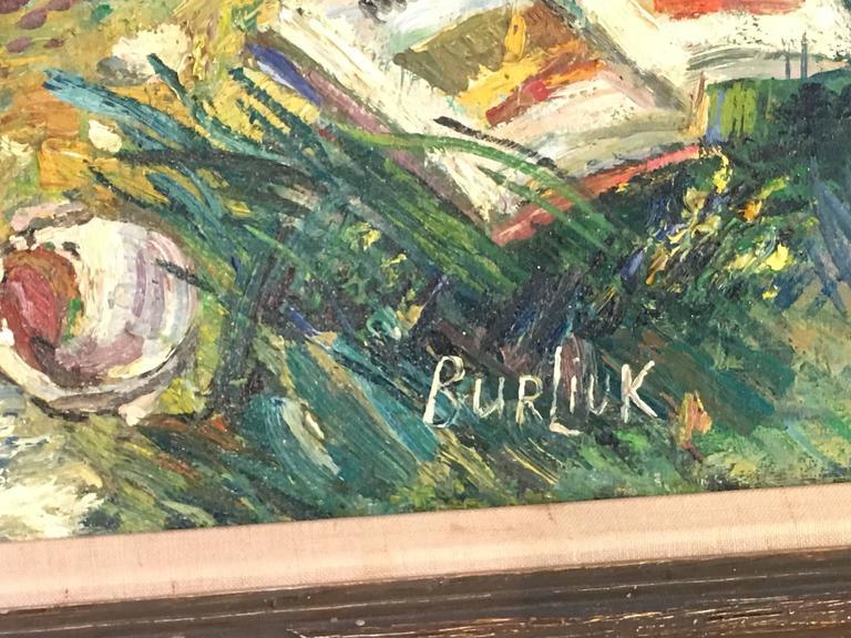 American Classical David Burliuk American/Ukrainian Listed Prov. Christies NY For Sale