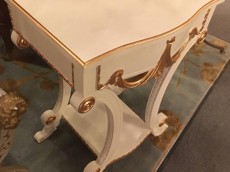 Pair of Grosfeld House Paint and Gilt Decorated End Tables or Nightstands For Sale 2