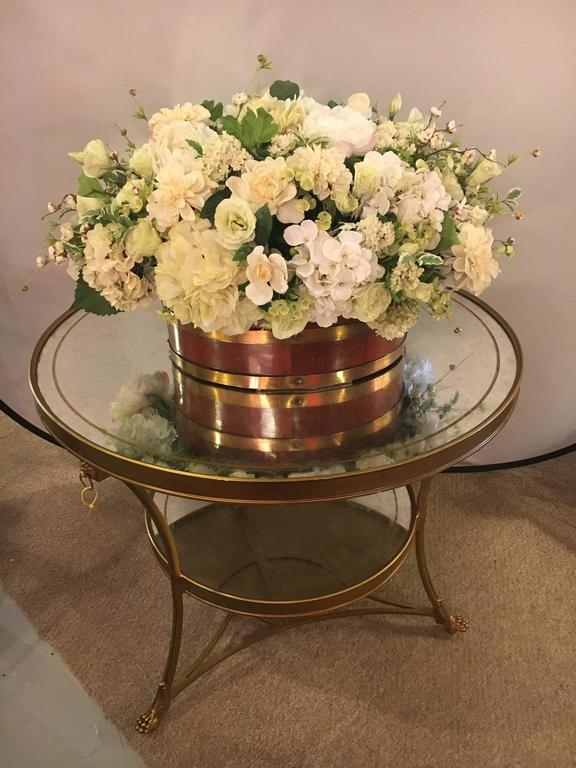Hollywood Regency Style Gilt Based Eglomise And Mirror Top