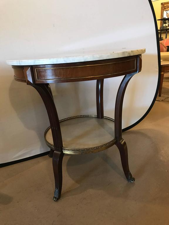 French Marble Top Gueridon by Maison Jansen For Sale 4