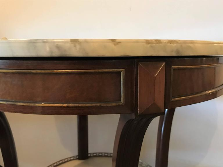 20th Century French Marble Top Gueridon by Maison Jansen For Sale