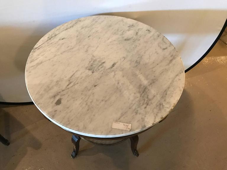 French Marble Top Gueridon by Maison Jansen For Sale 1