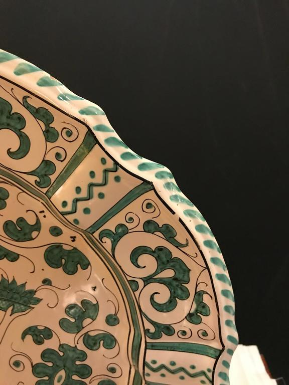 20th Century Italian Paint Decorated Platter For Sale