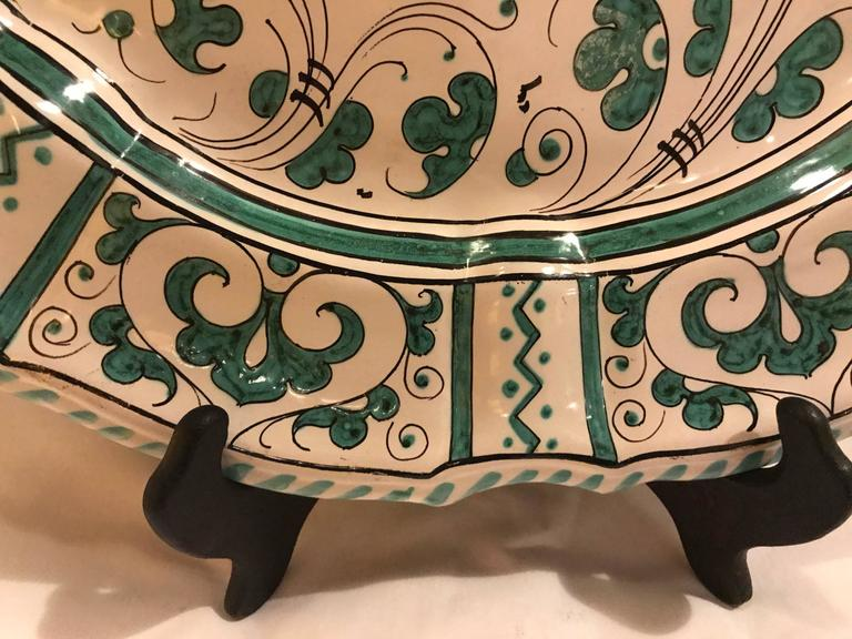 Italian Paint Decorated Platter For Sale 4