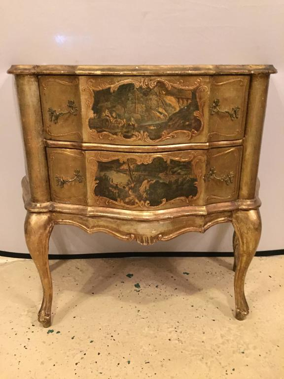 small italian baroque style bombay commode or nightstand. Black Bedroom Furniture Sets. Home Design Ideas