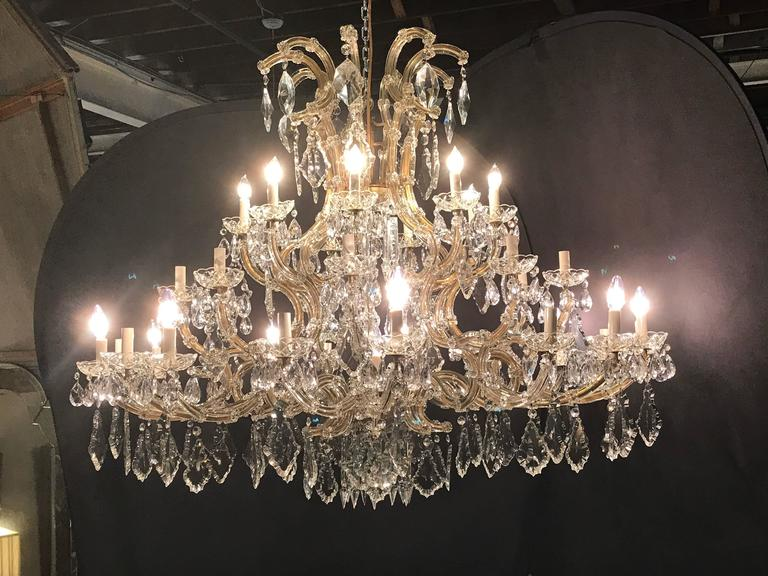 Monumental antique Venetian chandelier having 41 lights. This palatial chandelier is sure to light up any foyer or dining table that can withstand the grander of the size, late 19th or early 20th century chandelier is in very nice condition with