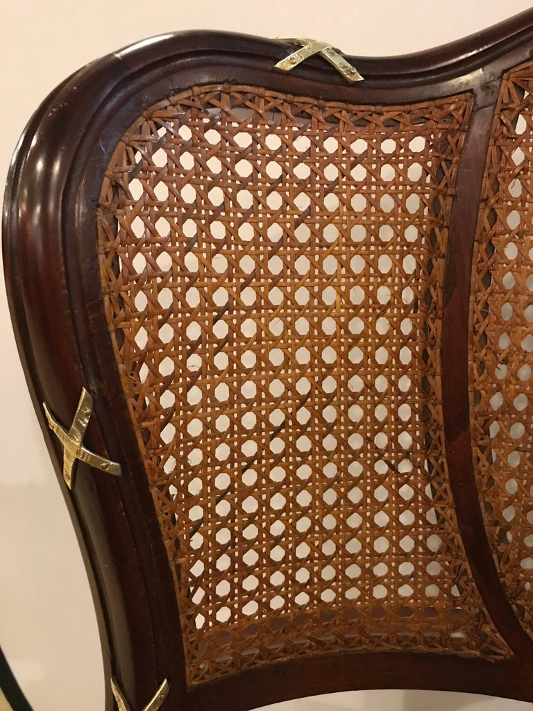 Set of Eight Fine Bronze-Mounted Louis XVI Style Dining Chairs Manner of Jansen For Sale 2