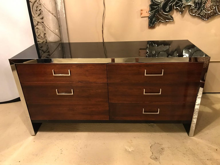 Milo Baughman For W. J. Sloane Bedroom Set Vanity, Dresser