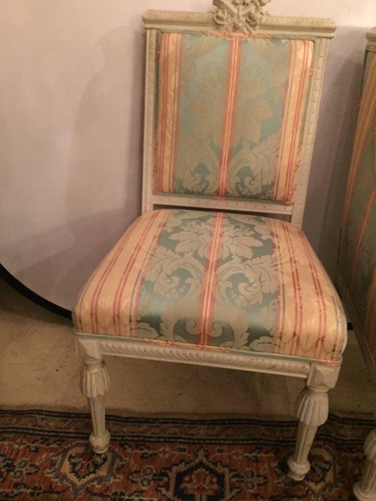 Swedish Fashioned Louis Xvi Style Salon Suite Off White