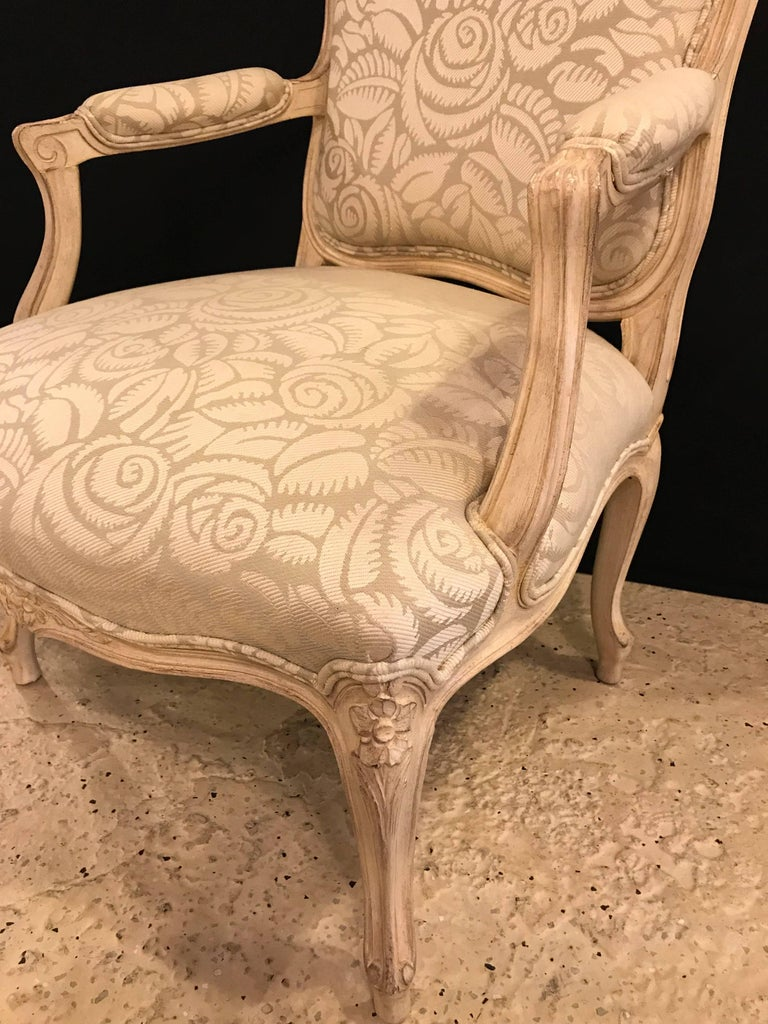 Pair of Louis XV Style Bergère Armchairs In Good Condition For Sale In Stamford, CT