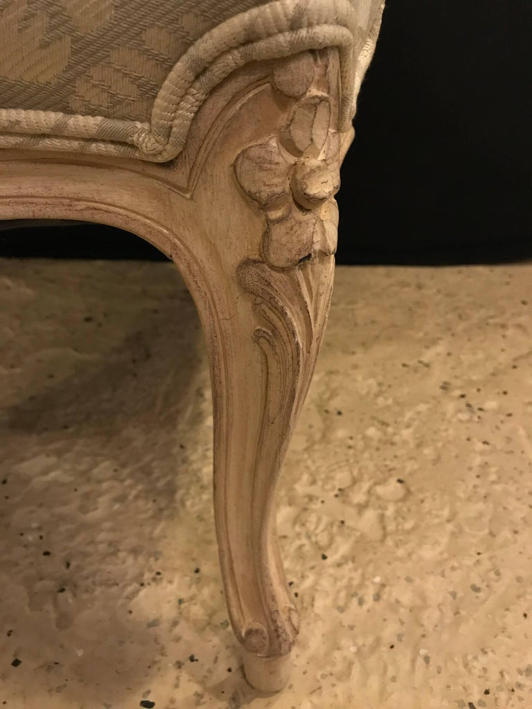 Pair of Louis XV Style Bergère Armchairs For Sale 1