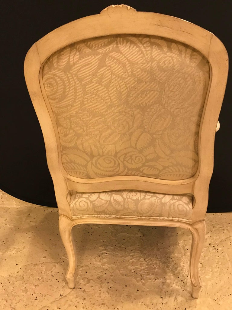 Pair of Louis XV Style Bergère Armchairs For Sale 4