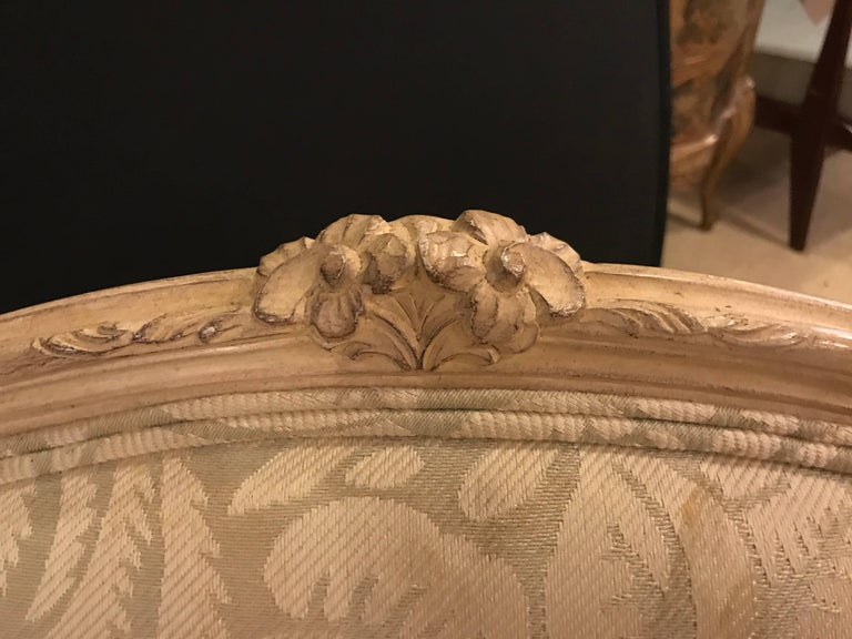 Pair of Louis XV Style Bergère Armchairs For Sale 3