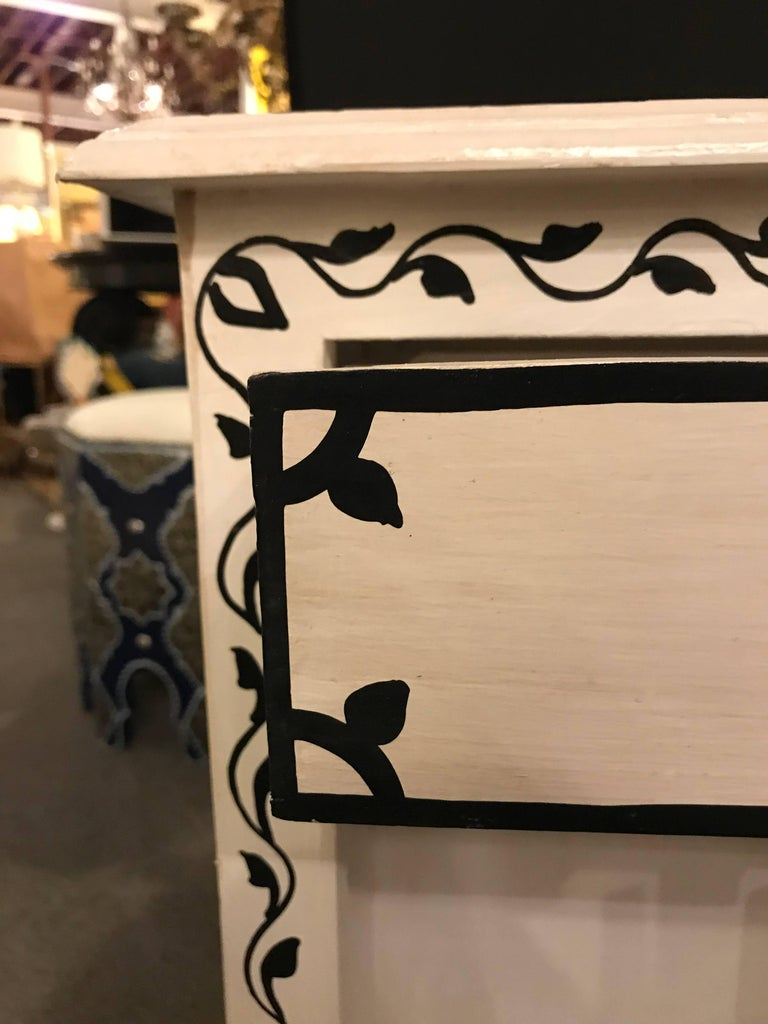 Pair of Hand-Painted Moroccan Nightstands or End Tables 1