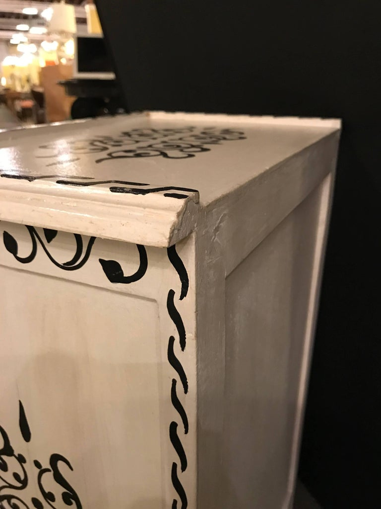Pair of Hand-Painted Moroccan Nightstands or End Tables 2