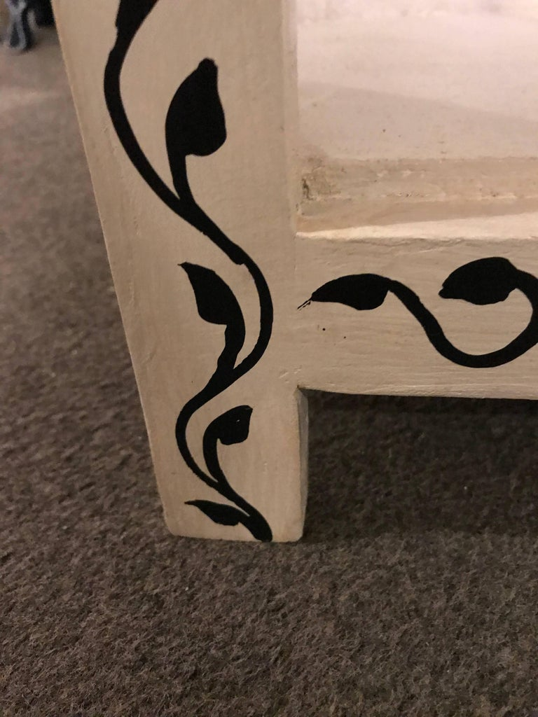Pair of Hand-Painted Moroccan Nightstands or End Tables 3