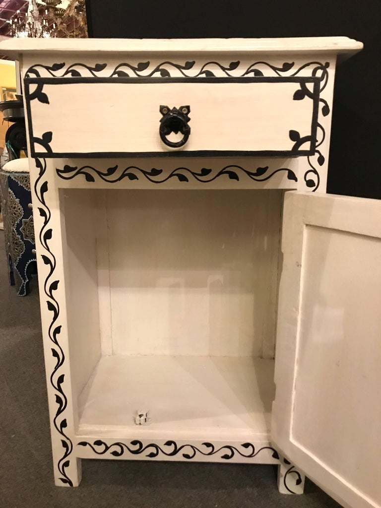 Pair of Hand-Painted Moroccan Nightstands or End Tables 4
