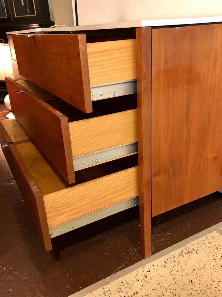 Pair Of Signed Custom Florence Knoll And Associates Chests