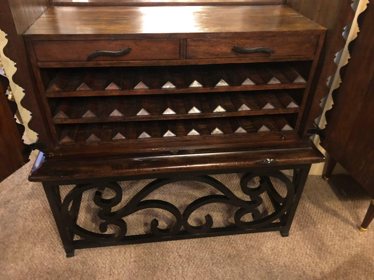 Monumental Jonathan Charles Art Deco Custom Quality Bar or Wine Cabinet In Good Condition For Sale In Stamford, CT