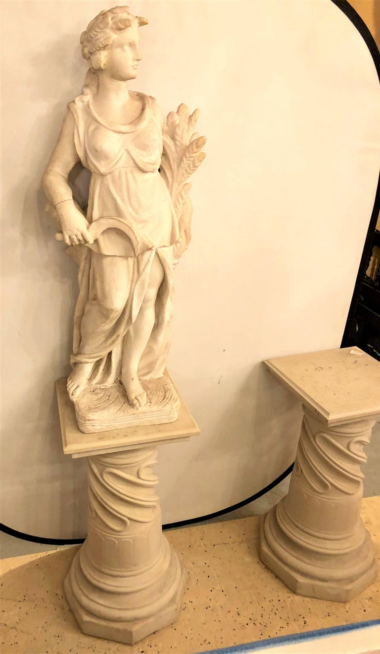 20th Century Pair of Composite Column Form Pedestals For Sale