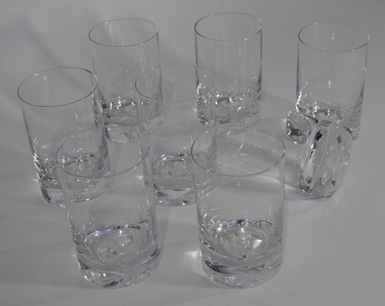 "Tapio Wirkkala ""Icebreaker"" Glassware for Iittala, circa 1960s 3"