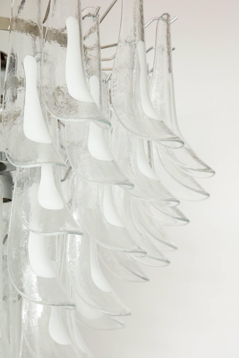 Italian Vintage Vesoi-Italy Murano Glass Chandelier, circa 1980s For Sale