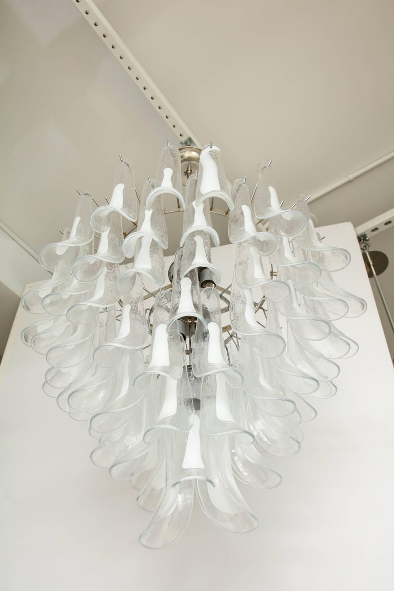 20th Century Vintage Vesoi-Italy Murano Glass Chandelier, circa 1980s For Sale