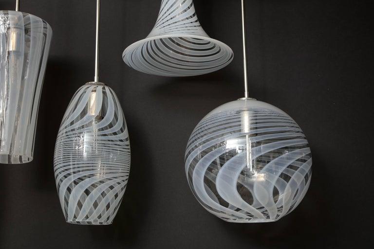 Moshe Bursuker Swirls Glass Pendants, 2018 For Sale 2