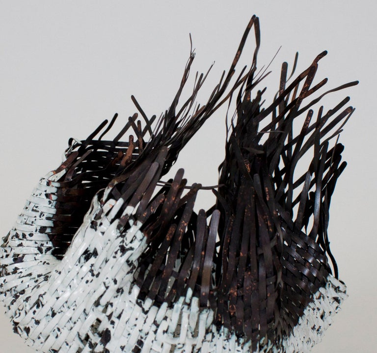 Organic Modern Sylvie Lissa Alusitz Enameled Copper Reservoir Basket, 2019 For Sale