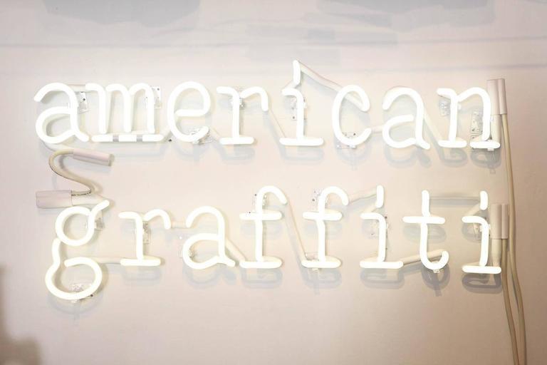 "Peter Buchman ""American Graffiti"" Neon, 2015 2"