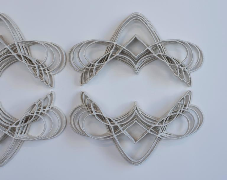 Glazed Joanna Poag Ceramic Flourish II Sculptures, 2015 For Sale