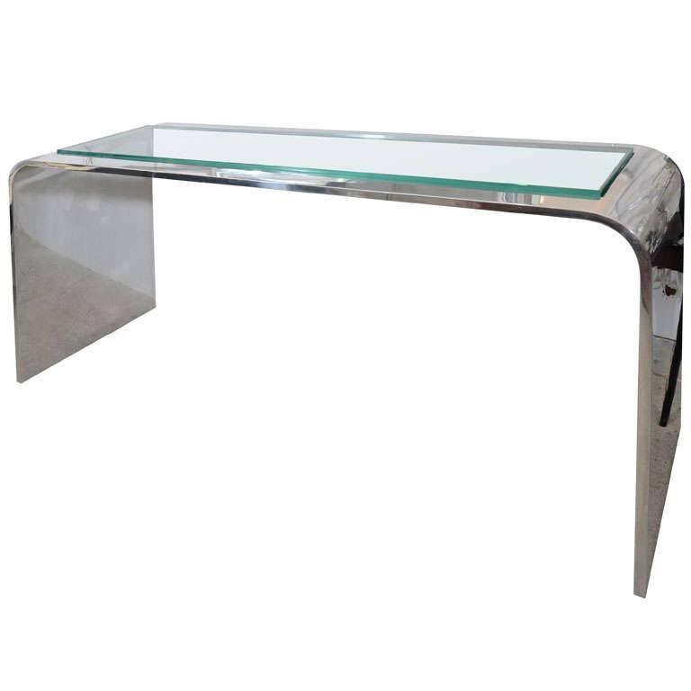 Gary Gutterman Olympic Console, Mirror Polished Aluminum, circa 1970s  1