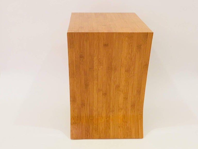 American Craftsman David Ebner Bamboo End Table with Shelf, 2005 For Sale