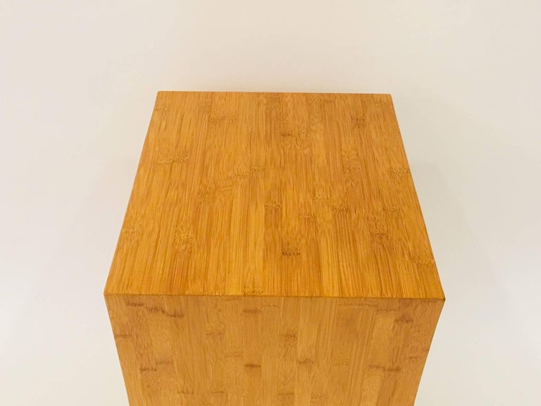 Contemporary David Ebner Bamboo End Table with Shelf, 2005 For Sale