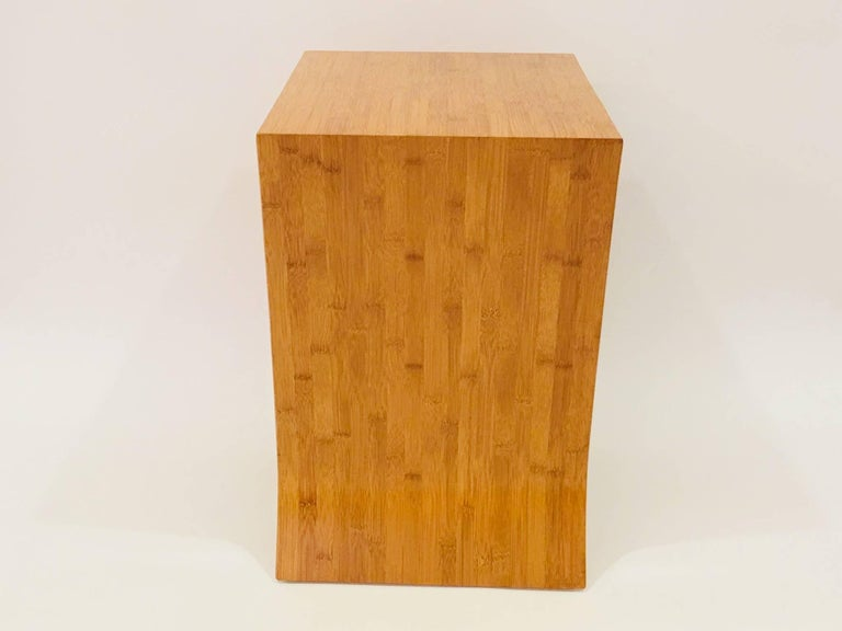David Ebner Bamboo End Table with Shelf, 2005 In Excellent Condition For Sale In New York, NY
