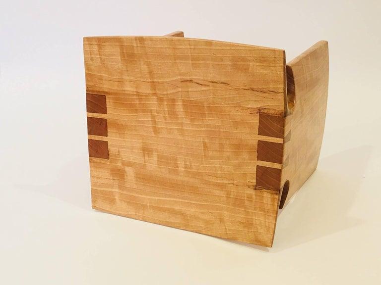 Wood David N. Ebner Anigre Renwick Stool, 2017 For Sale