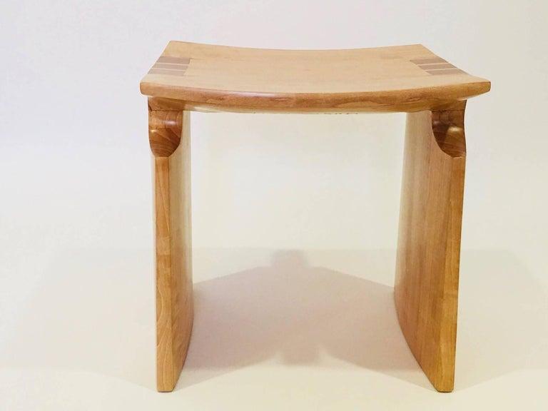 American David N. Ebner Anigre Renwick Stool, 2017 For Sale
